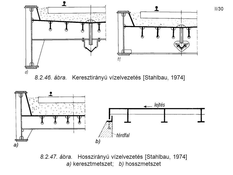 8.2.46. ábra. Keresztirányú vízelvezetés [Stahlbau, 1974]